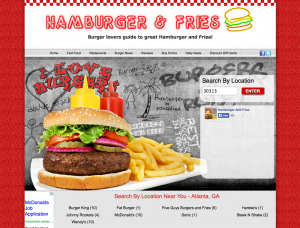 hamburgerandfries.com screenshot